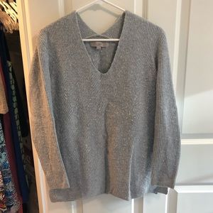 Loft long sleeve gray sweater, size medium